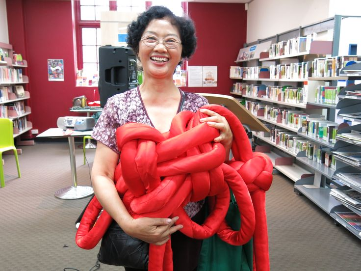 Chinese knotting at Marrickville Library.