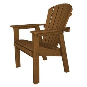 Seashell Adirondack Chair Finish: Dark Teak
