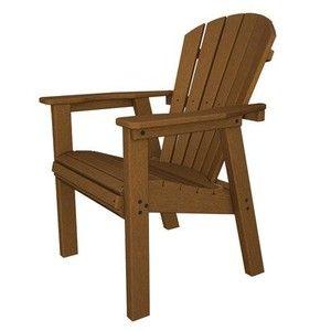 Seashell Adirondack Chair Finish: Dark Teak