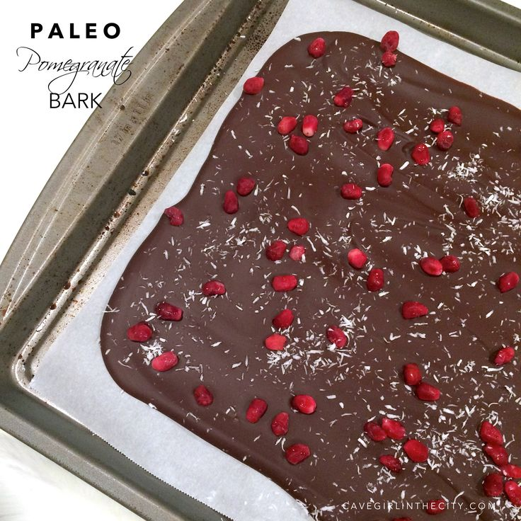 I grew up eating piles of peppermint bark around the holidays. So this year, I packaged my Paleo trail mix bark in cute little cellophane bags, tied them with a big bow and added homemade gift tags...
