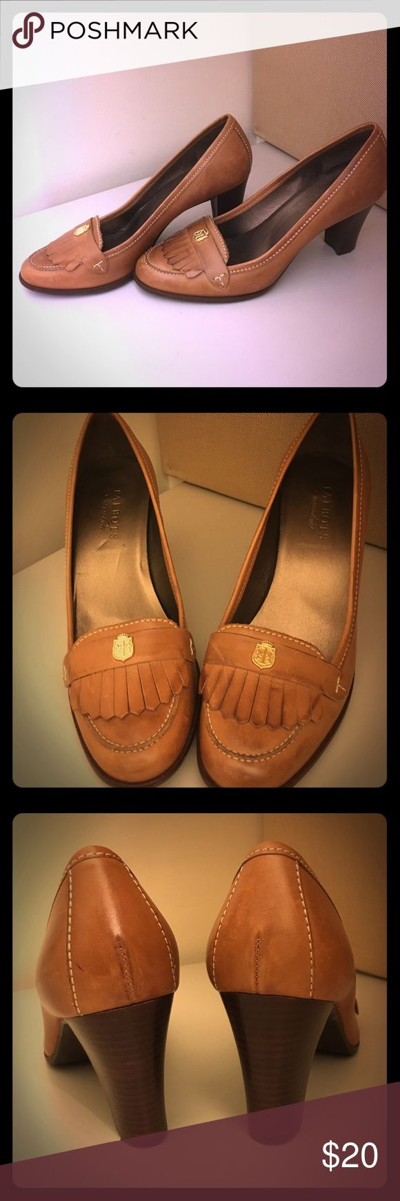 Camel Pumps Camel Pumps in good condition - gently worn. About 4 inches high and very comfortable. They're big on me so I'm selling them! Talbots Shoes Heels