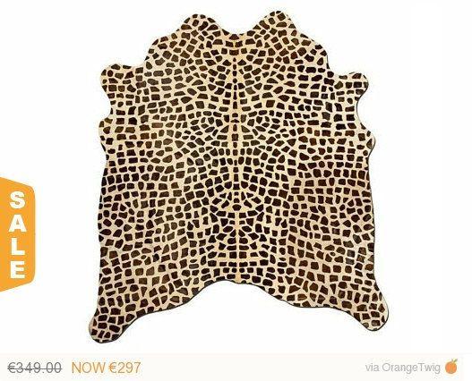 Super Sale Cow Skin Rug Print Giraffe Por Puraspain En