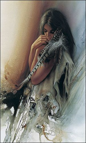 Native American woman. I have no Native American heritage but I sure wish I did.  Such beautiful, spiritual, one-with-nature people.