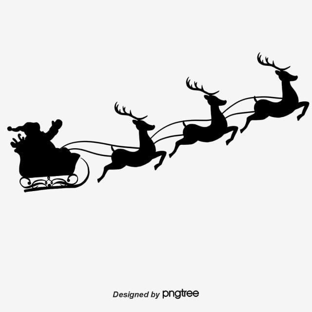 Christmas Silhouette Christmas Santa Claus Reindeer Png Transparent Clipart Image And Psd File For Free Download Silhouette Christmas Christmas Stencils Santa Sleigh Silhouette