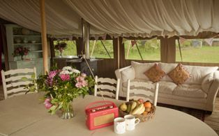 Glamping in Devon at Cuckoo Down Farm