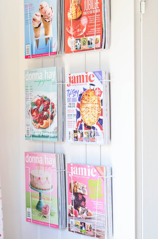 Magazine storage on The Yvestown Blog