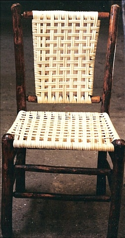 Hickory chair with binder cane
