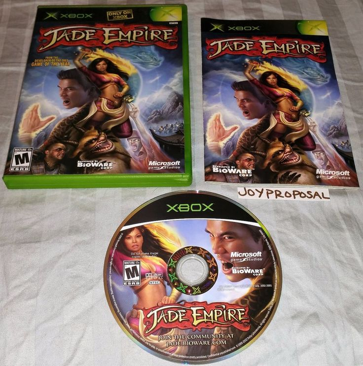 Jade Empire (Microsoft Xbox, 2005) RPG Role Playing Real Time Strategy Adventure