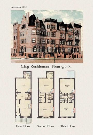 City Residences New York 12x18 Giclee On Canvas House Plans In 2018 Pinterest And Blueprints