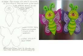mariposas en goma eva infantiles moldes - Buscar con Google