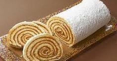 INGREDIENTES PARA EL PIONONO: 5 Cucharadas de harina preparada 5 Cucharadas de azúcar 5 Huevos 1 Cucharadita de escencia vainilla ..