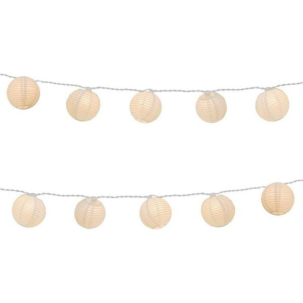 Electric String Light with Round Paper Lanterns ($22) ❤ liked on Polyvore featuring home, lighting, paper lanterns, circular lamp, paper lamp, round lights and paper lights