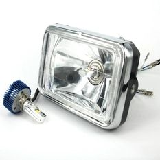 RTD LED 16W Headlight for any Harley, Honda, Yamaha, Suzuki, Kawasaki, Custom Bike, Cruiser, Choppers