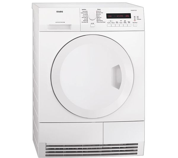 AEG T75380AH2 Heat Pump Condenser Tumble Dryer - White