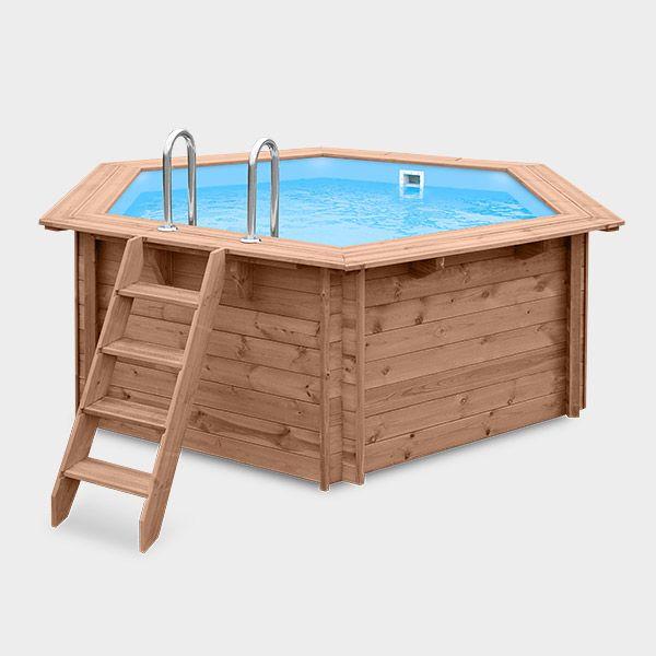 Frühkauf-Holzpool POOLSANA PINE 1   354 x 307 x 116 cm Beckenkonstruktion: Mit unserem Holzpool POOLSANA PINE erwerben Sie ein robustes und langlebiges Schwimmbecken, das Ihnen über viele Jahre Freude bereiten...