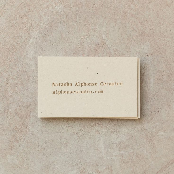 1318 best business cards images on pinterest brand identity carte branding for natasha alphonse ceramics by shore design studiosbusiness cardsprinted colourmoves