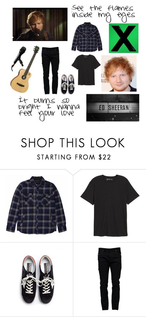 """I'm A Mess - Ed Sheeran"" by ballerinahippie on Polyvore featuring Public Opinion, Golden Goose, Valentino, men's fashion and menswear"