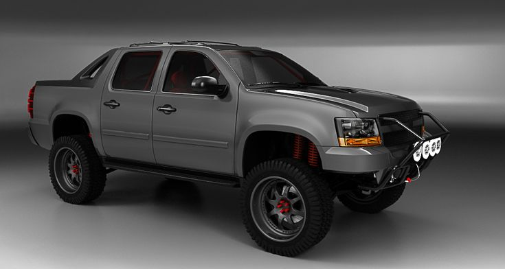 Chevy Avalanche (off road) 1st render by ~3dmanipulasi on deviantART