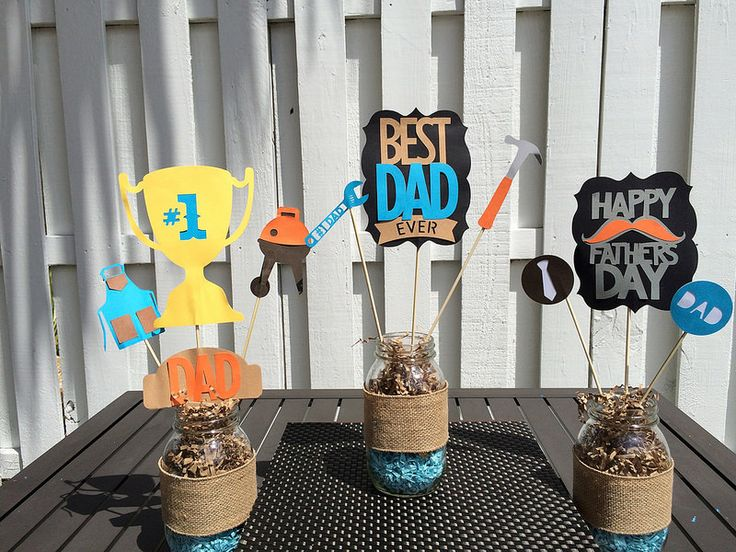 Father's Day Centerpieces | by SimplyFabParties08
