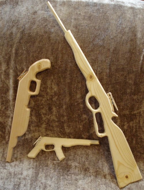 Rubber Band Guns Free Scroll Saw Pattern Wooden Toys