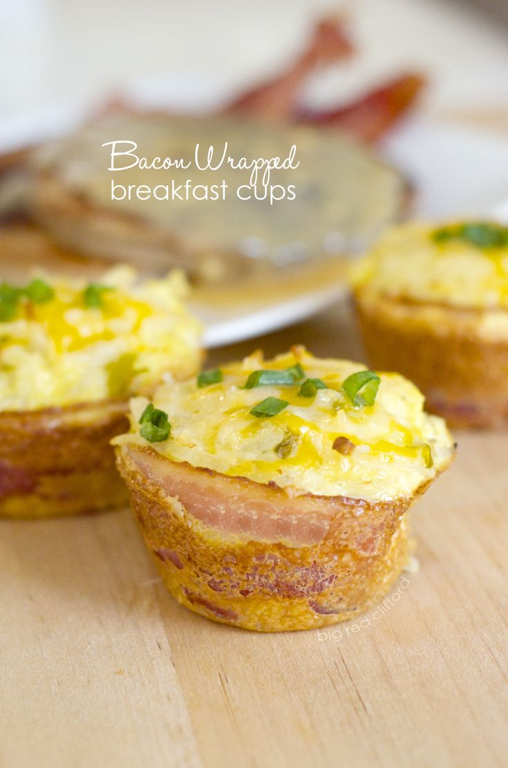 Bacon-Wrapped Breakfast Cups. Save em, reheat em. And perfect for brunch! | bigredclifford.com