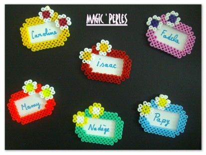 Tag name hama perler by Magic Perles