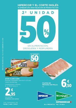 El Corte Ingles: Supermercados - 2a UNIDAD -50% EN ALIMENTACION, DROGUERIA Y PERFUMERIA  ➡ Ver Catalogo