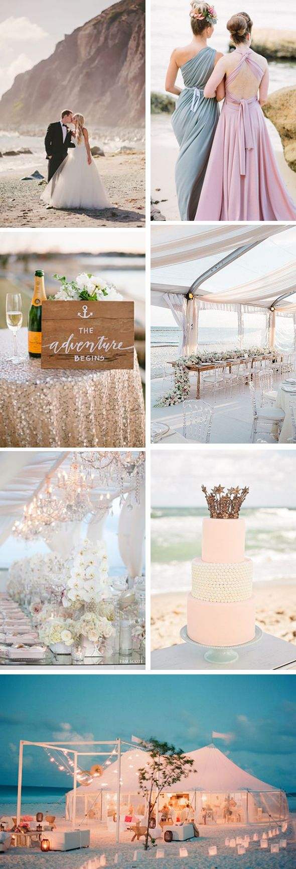 glam beach weddings