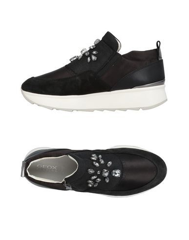 GEOX Women's Low tops & sneakers Black 10.5 US