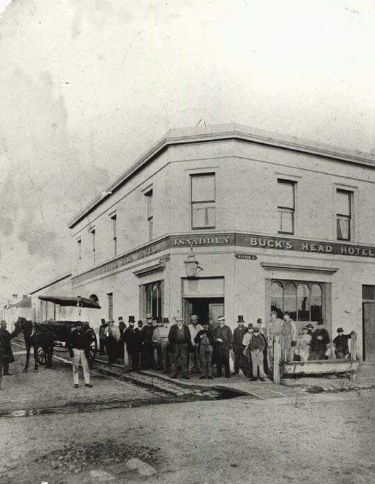 Buck's Head Hotel at 182 Napier St,Fitzroy,in 1878.