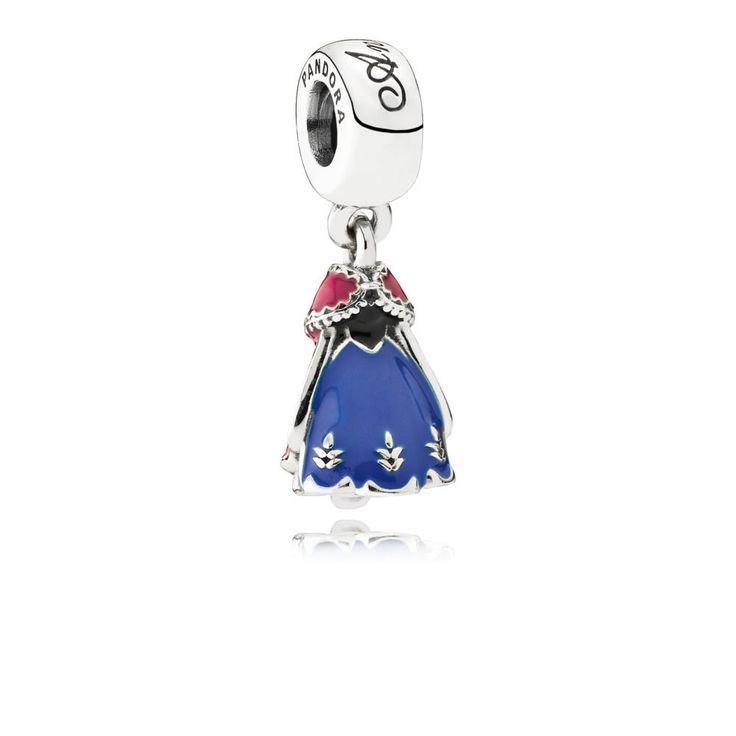 Depicting the dress of Frozen's Anna, this sterling silver charm is detailed by hand with colourful enamel. Gift this iconic pendant charm to Frozen lovers, or wear to show your connection to sisterhood.