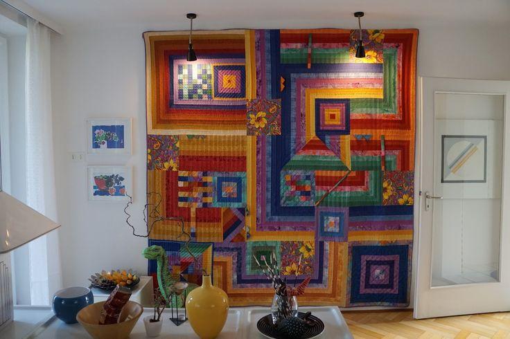 """Meine Quilts und Ich: """"Das Ganze ist mehr, als die Summe seiner Teile"""" im Wohnzimmer meiner Freundin"""