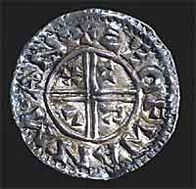 Silver penny of Athelstan / Guthrum, imitating Alfred's 'Two-line' type  ©