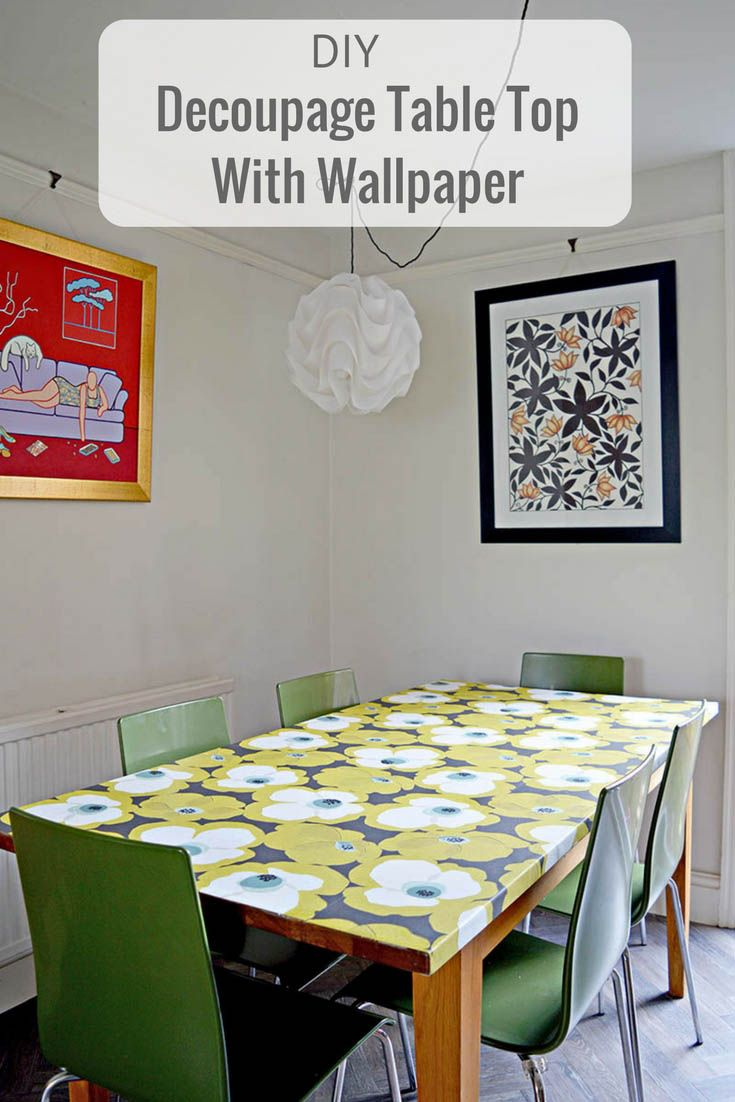 decoupage ideas for furniture. diy tutorial on how to decoupage a table top with mid century modern wallpaper ideas for furniture o
