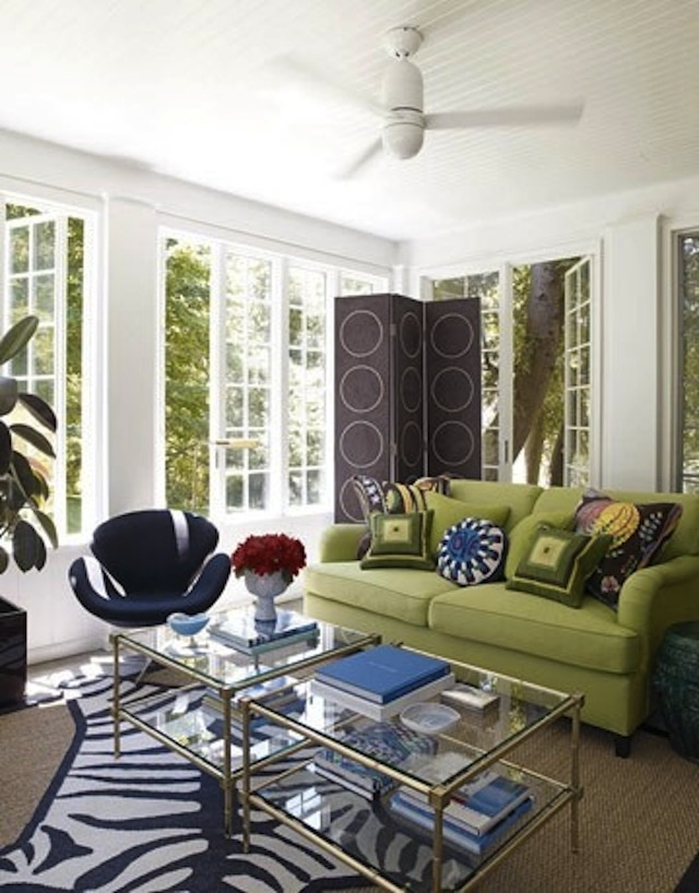 fresh and clean describe this living space where pattern is the key player solid furniture