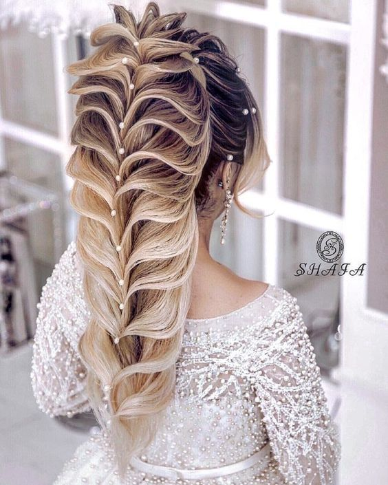 تسريحات شعر للعروس غاية في الرقة والرومانسية 2019 Elegant And Romantic Bridal Hairstyles Collection Hair Styles Long Thin Hair Trending Hairstyles