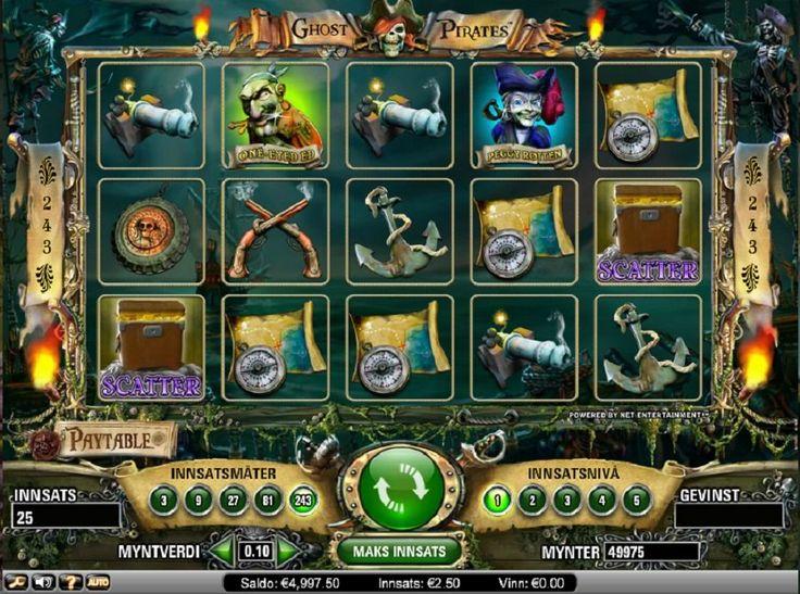 Ghost Pirates Spillemaskin. Pirater er et hett tema om dagen, med show som Tresure Island og Pirates of the Caribean filmene. Dette spillet er ikke som noen av disse moderne nyinnspillingene, men den er mer som den originale Treasure Island boken. #GhostPirates #Spillemaskin