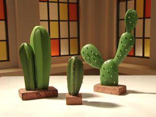 Manualidades y Artesanías | Cactus de papel maché | Utilisima.com