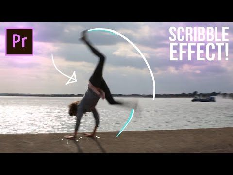How to SCRIBBLE Animation write-on line effects in Adobe Premiere Pro CC Tutorial (No After Effects) - YouTube