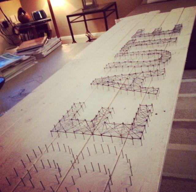 DIY string - using DIY Pallet