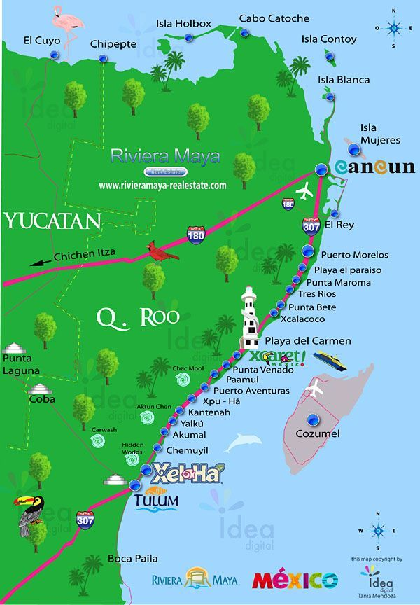 riviera maya map mexico » Full HD MAPS Locations - Another World ...