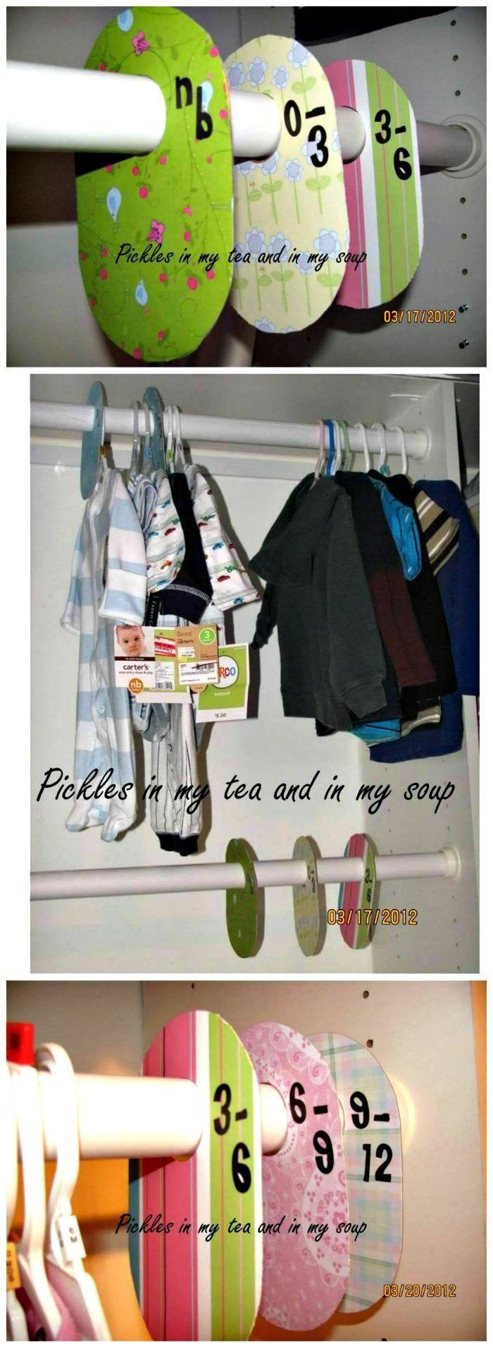 Fresh  Easy DIY Baby Closet Dividers To Organize Baby Clothes Baby Kleiderschrank TeilerOrganisieren