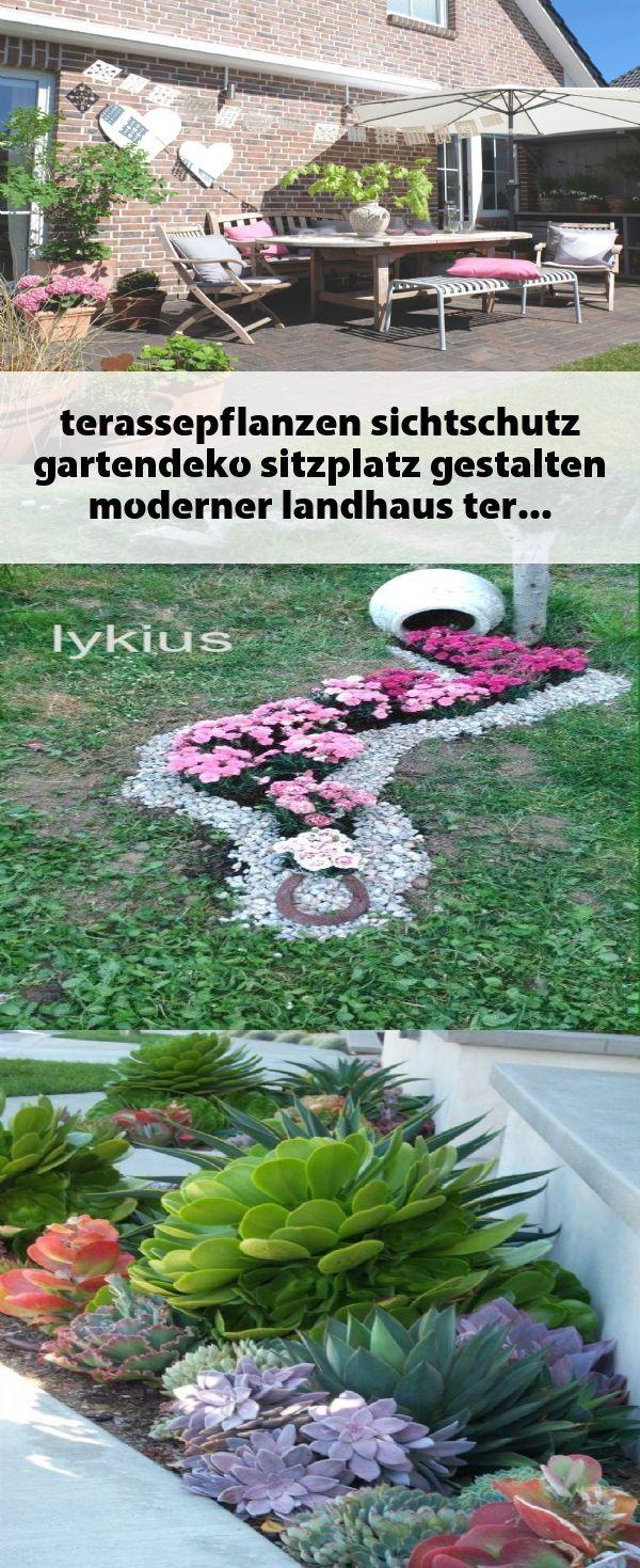 Terassepflanzen Sichtschutz Gartendeko Sitzplatz Gestal Garden Garden Design Garden Decor
