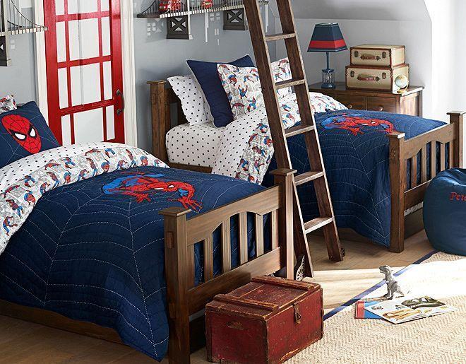 Shelves Spider Man™ Comic   Pottery Barn Kids: Boys Bedrooms, Bedrooms Sets