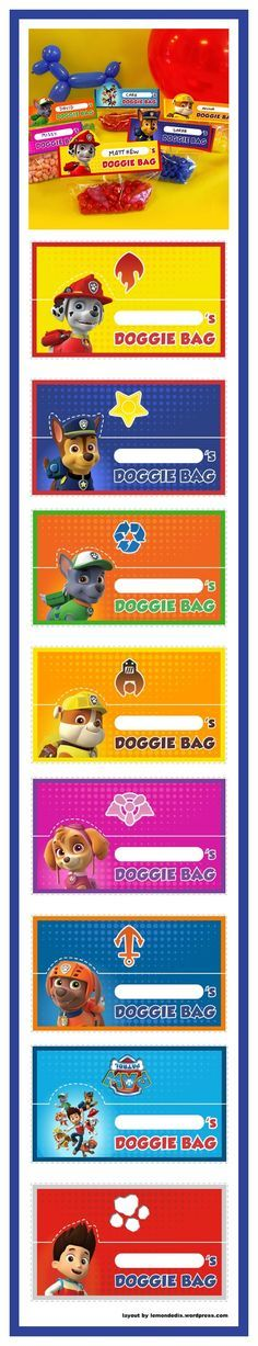 Make Your own PAW Patrol Goody Bags More