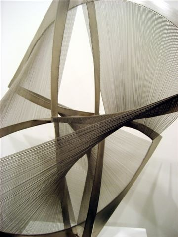 Naum Gabo, born Naum Neemia Pevsner (5 August [O.S. 24 July] 1890 – 23 August 1977) (Hebrew: נחום נחמיה פבזנר) was a prominent Russian sculptor in the Constructivism movement and a pioneer of Kinetic Art.