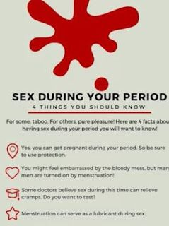 Sex while having period right!