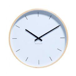 Milk & Sugar Henry Clock - White