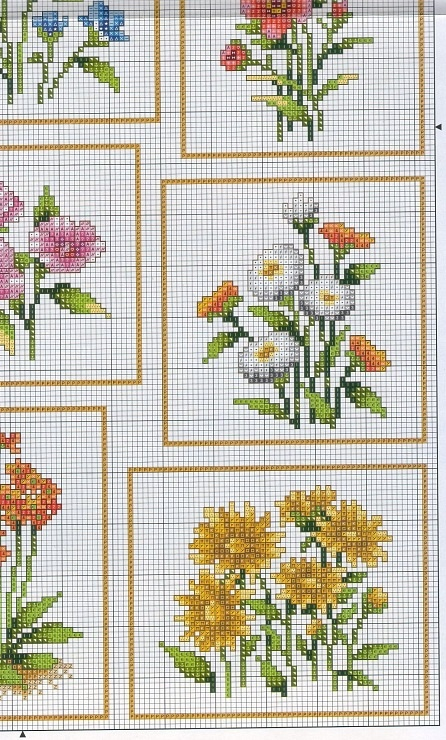 Cross-stitch Flowers, part 2.. color chart on part 3 & 4... Gallery.ru / Фото #5 - цветы - irisha-ira