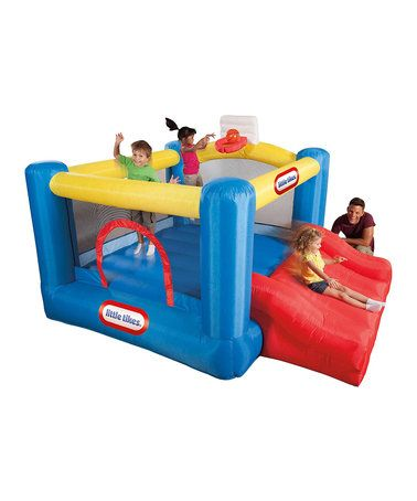 Love this Jr. Sports 'n' Slide Outdoor Bounce House Set on #zulily! #zulilyfinds